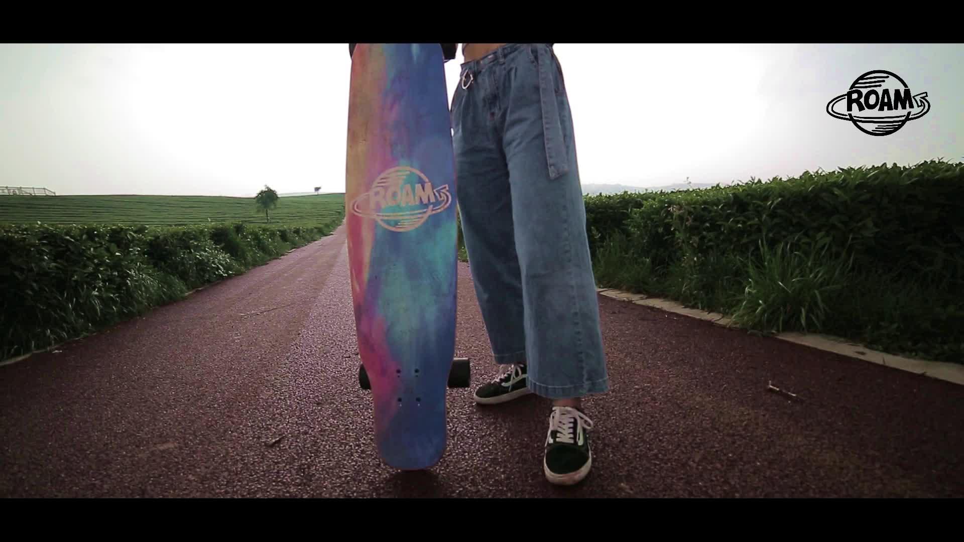 2016 Mais Novo Cruzador Da Praia de Bambu Madeira de Bordo Skate Longboard Para Rapazes e Raparigas