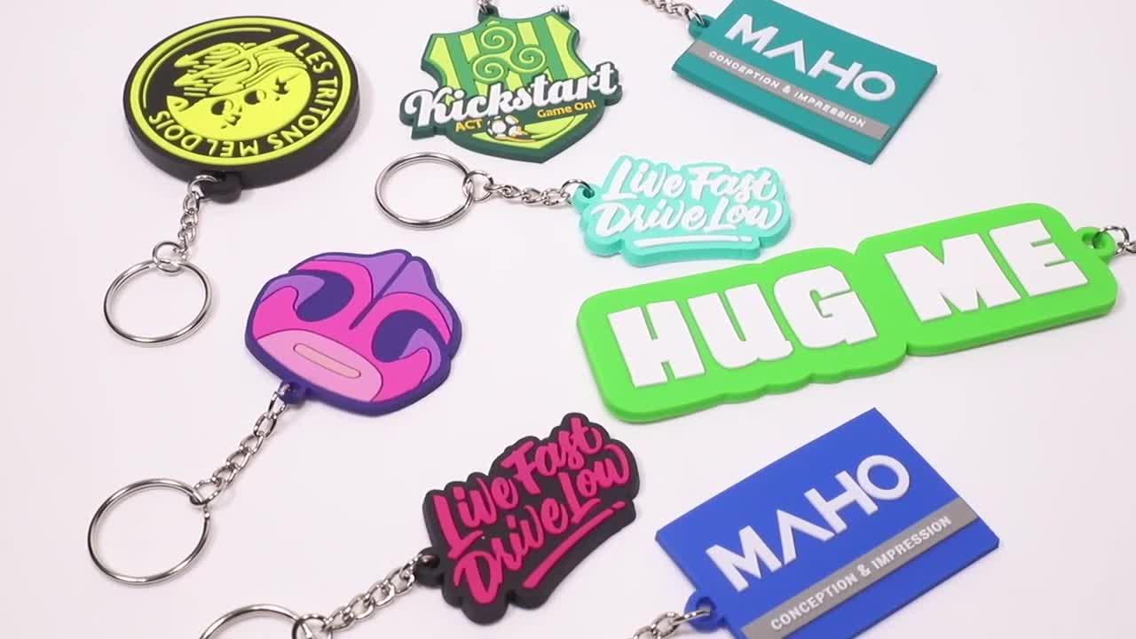 Artigifts Keychain Factory Customized Made 2D Logo Soft Rubber Keyring Key Chain Custom 3D PVC Keychain