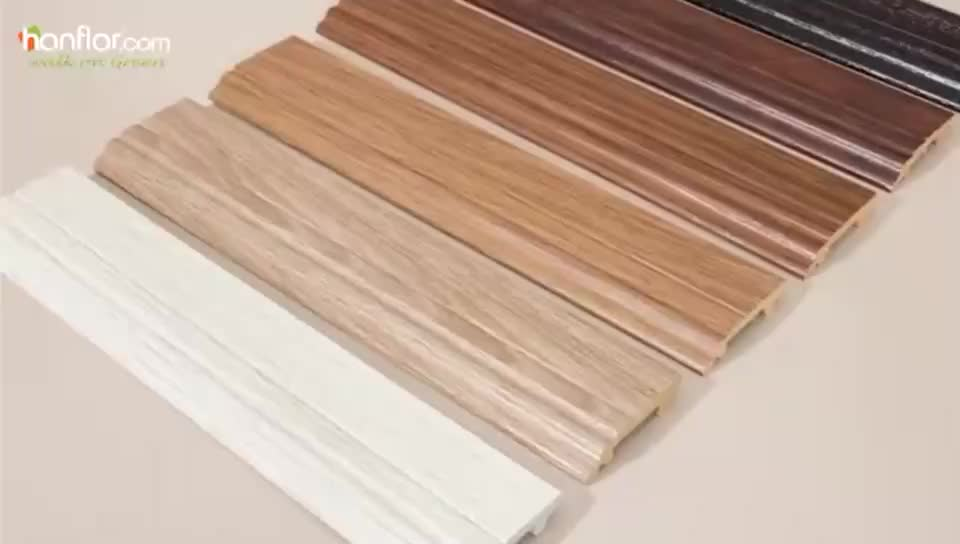 Eco-friendly PVC Flooring Accessories decorative pvc skirting board flooring