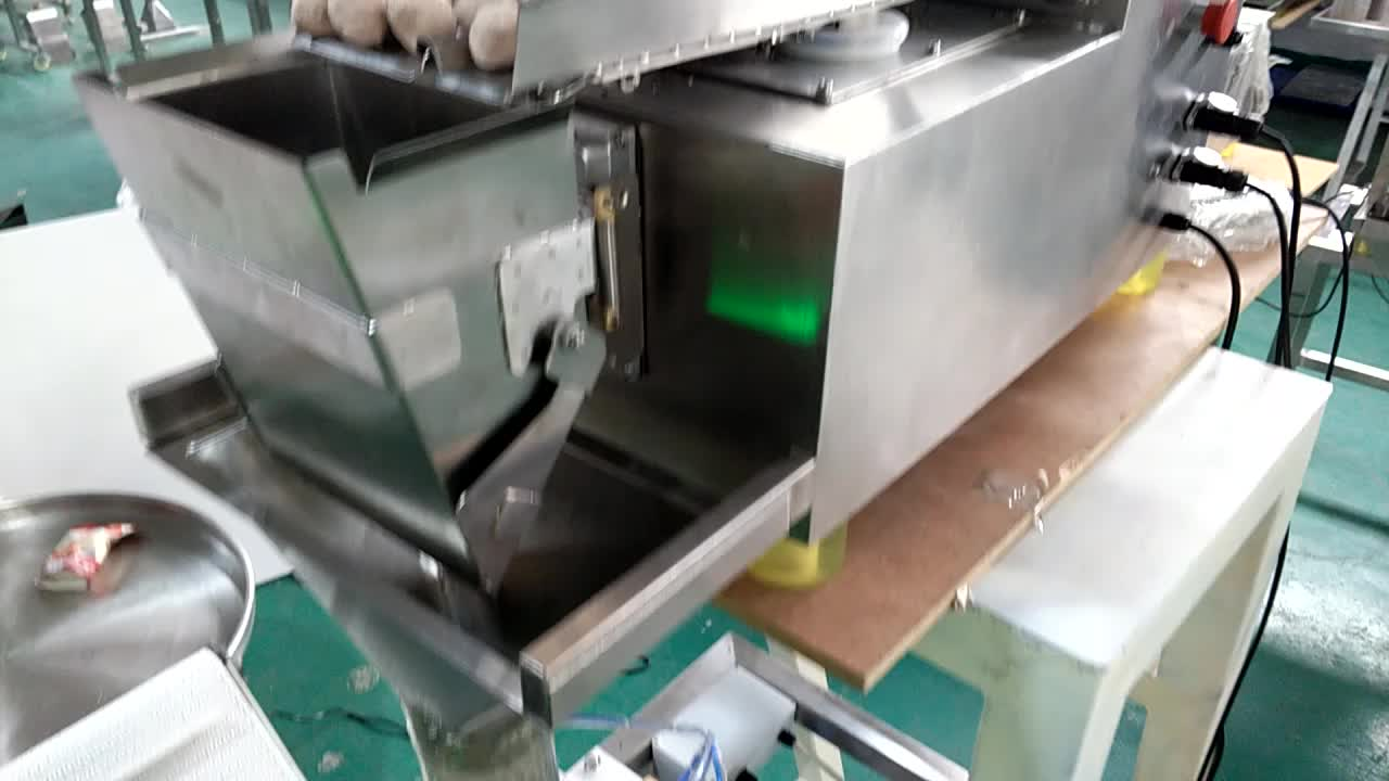 Easy setting weight filler linear weigher for seafood hops