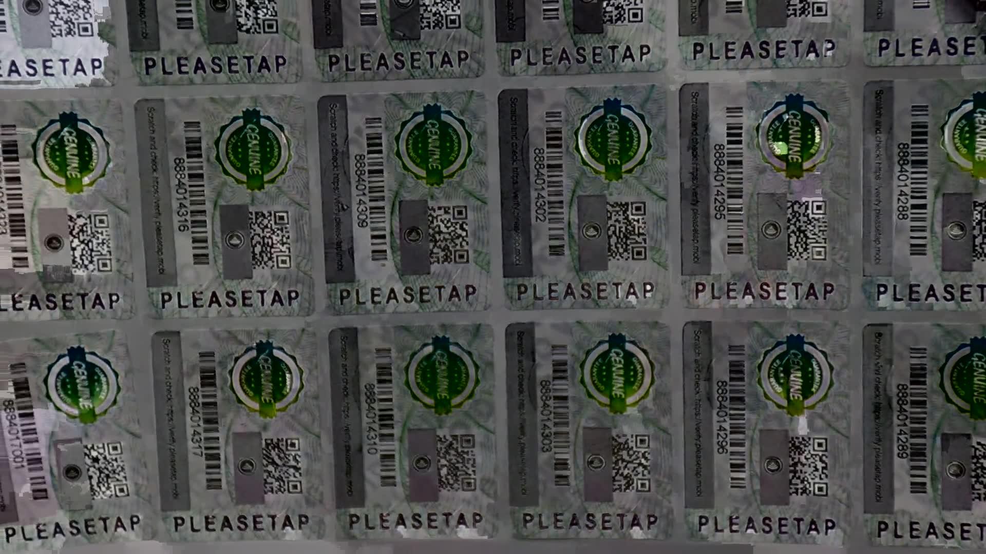 कस्टम स्वयं चिपकने वाला सुरक्षा स्टीकर लेबल मुद्रण रंग बदलने के साथ विरोधी जालसाजी प्रौद्योगिकी