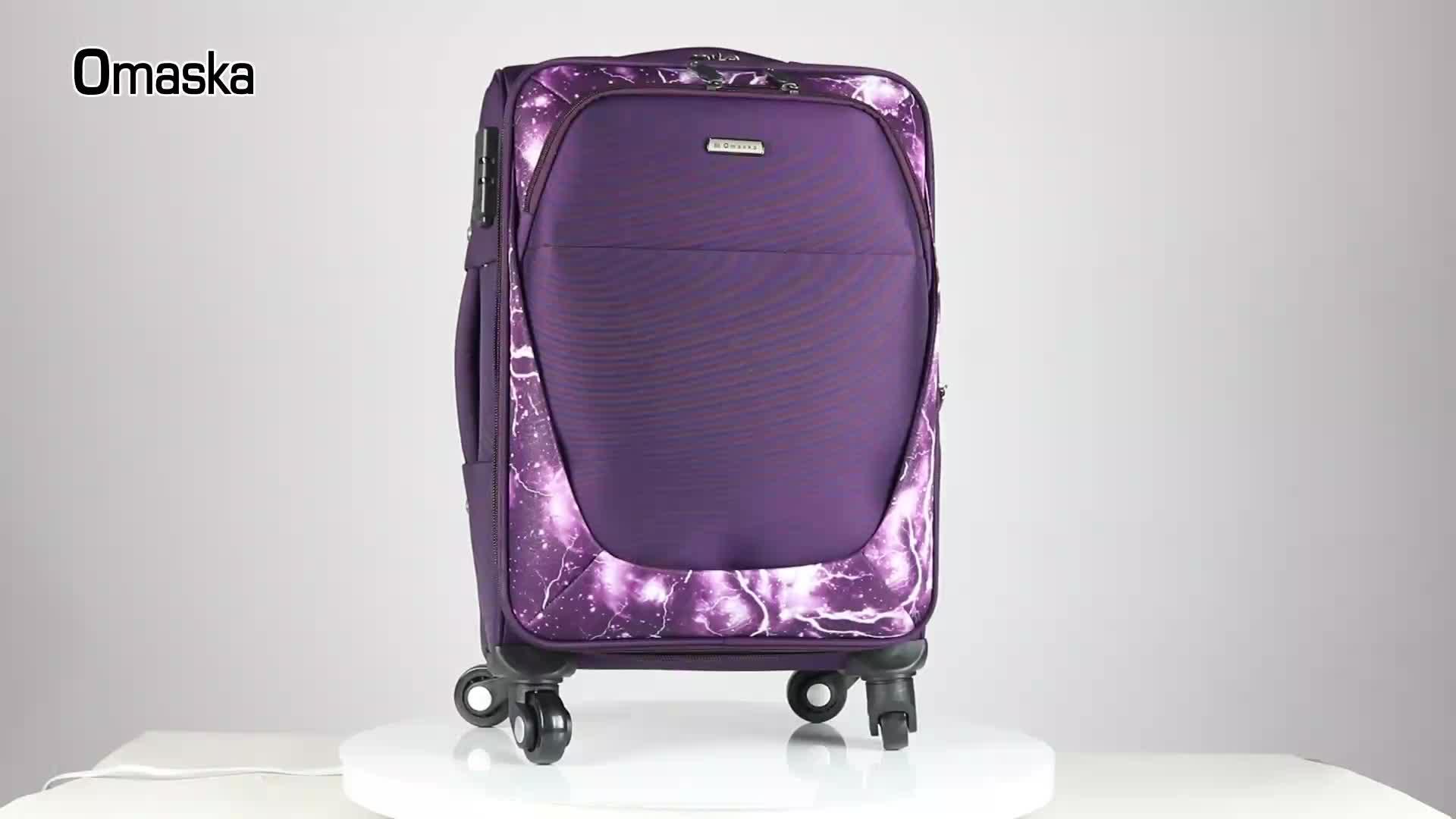 2019 Nylon Waterproof Material Spinner Wheel Wholesale Factory Bags Trolley Travel Bag Luggage