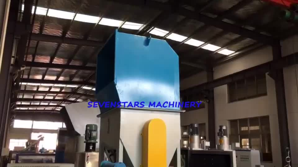 300kg/h two stage side force feed Recycling pelletizing machine for LDPE PP PE and LLPE film