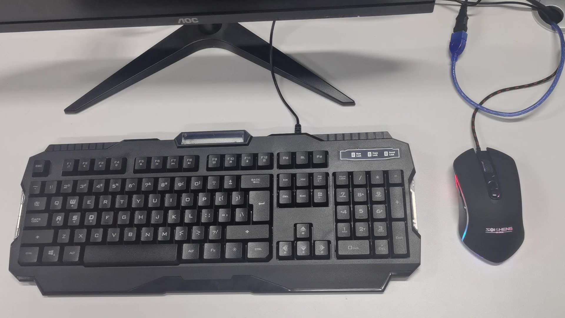 Computer Verdrahtete Gamer Headset Set RGB Gaming Tastatur Und Maus Combo LED gaming tastatur und maus headset