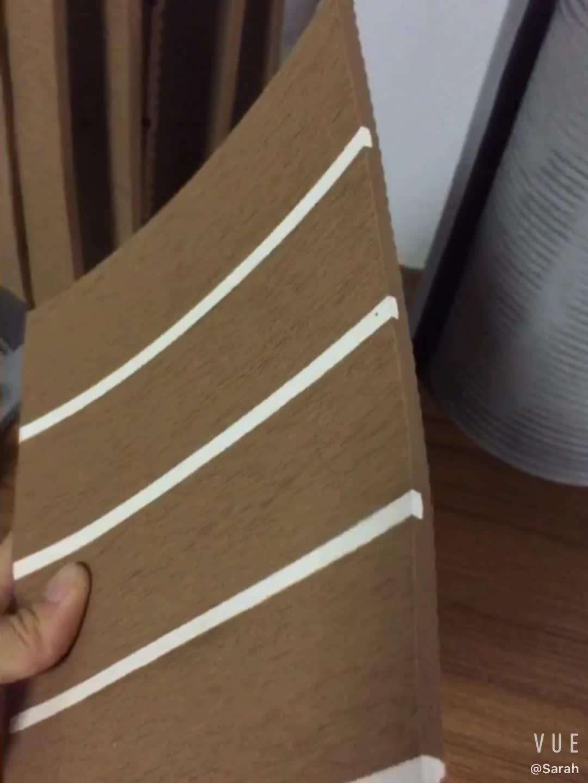 Antislip EVA Foam Faux Teak Sheet PVC Boot Jacht Synthetische Teak Decking Water-proof promotionele Marine Laminaat floor