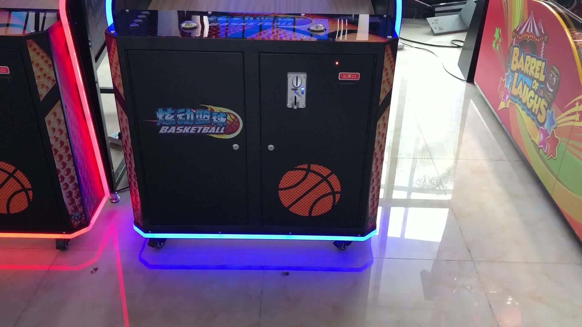 UNIS आर्केड खेल मशीन बास्केटबॉल खेल मशीन मॉनिटर तूफान शॉट