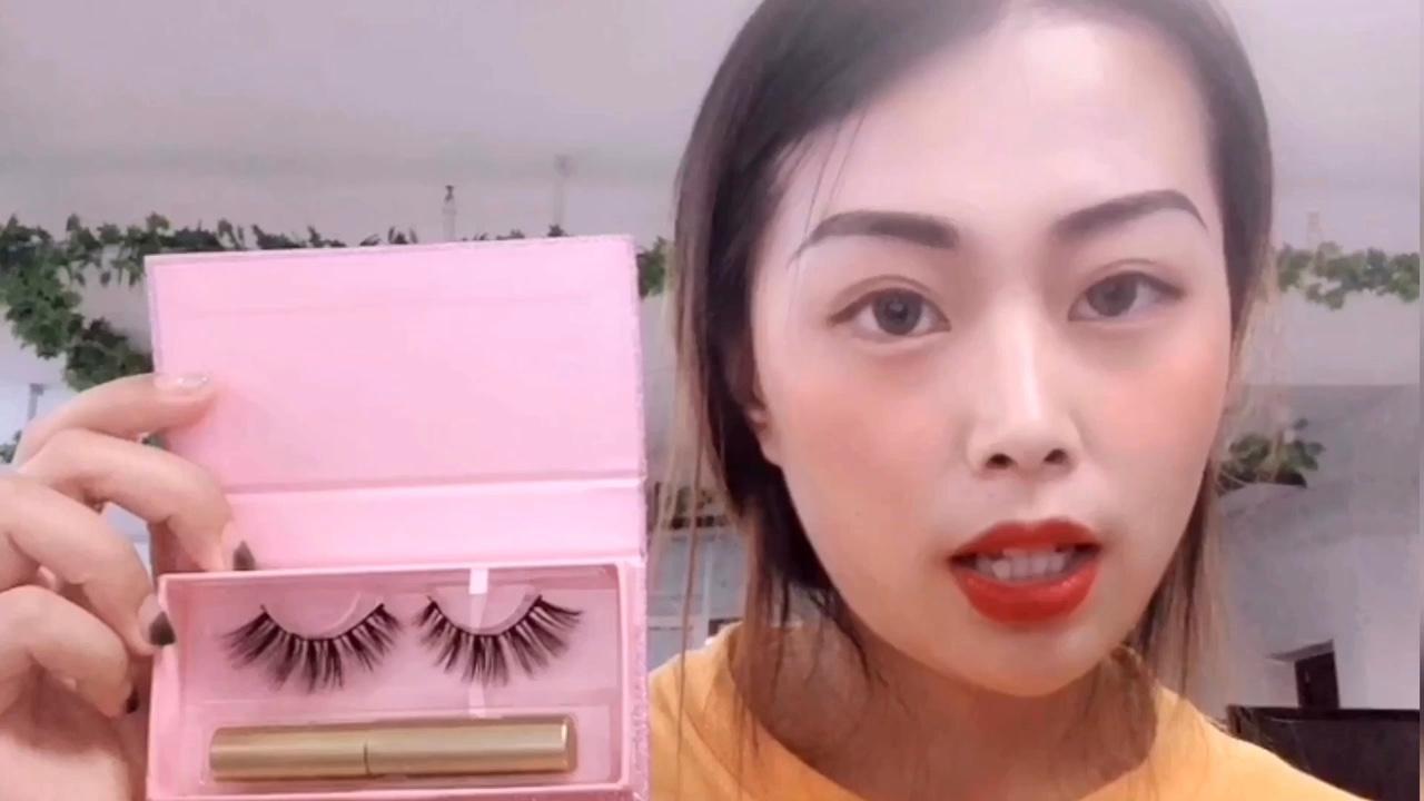 2019 3D अशुद्ध मिंक झूठी चुंबकीय बरौनी चुंबकीय आईलाइनर और Lashes मजबूत चुंबक प्राकृतिक Eyelashes सेट