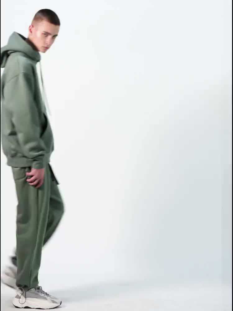 2020 Streetwear 겨울 착용 청록색 청록색 맞춤형 대형 까마귀 남성