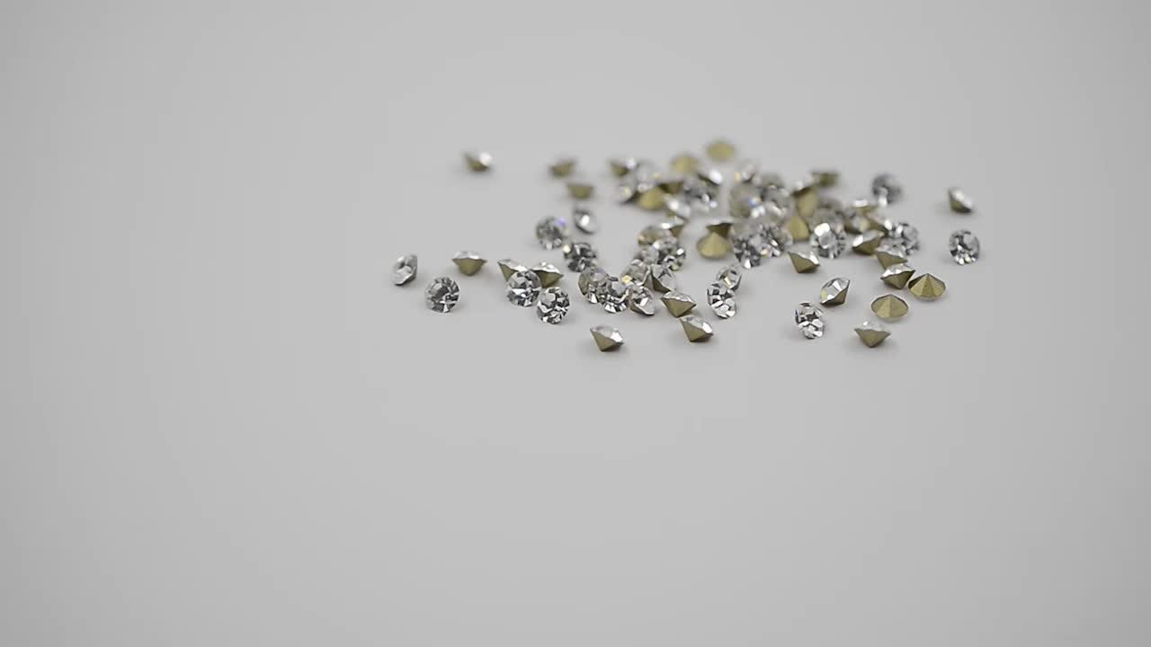 Melhor qualidade de ouro foiled ponto de volta MC cristal strass chaton