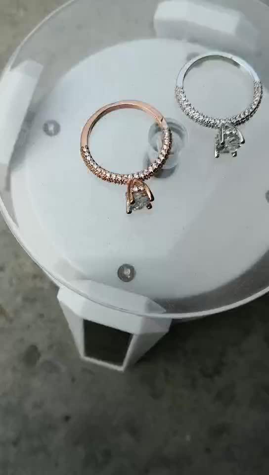 RHJ2705, joyería Huilin, mejor calidad, anillos dobles de plata esterlina 925, anillos de boda