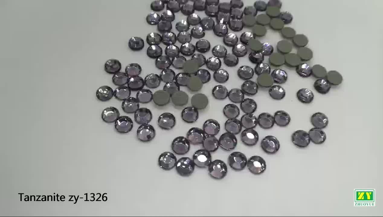 Bunte Kristall Flatback Steine Lose Nicht Hotfix Strass für Nail art Handy DIY Dekoration SS4-SS40