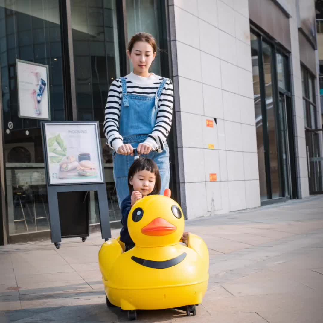 2020 new lovely yellow duck Ride+On+Car multi-functional kids electric toy cars to drive