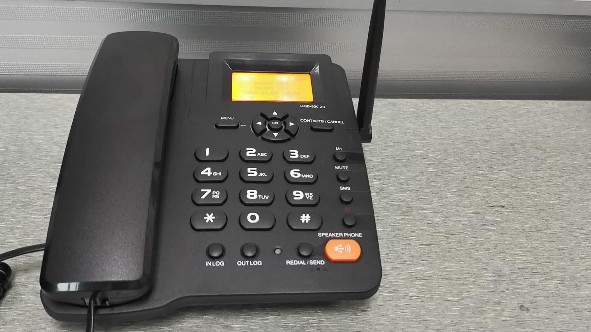 ESN-3B1 GSM 2G Dua Dual SIM Fixed Wireless Desktop Ponsel Cordless Telepon Fwp
