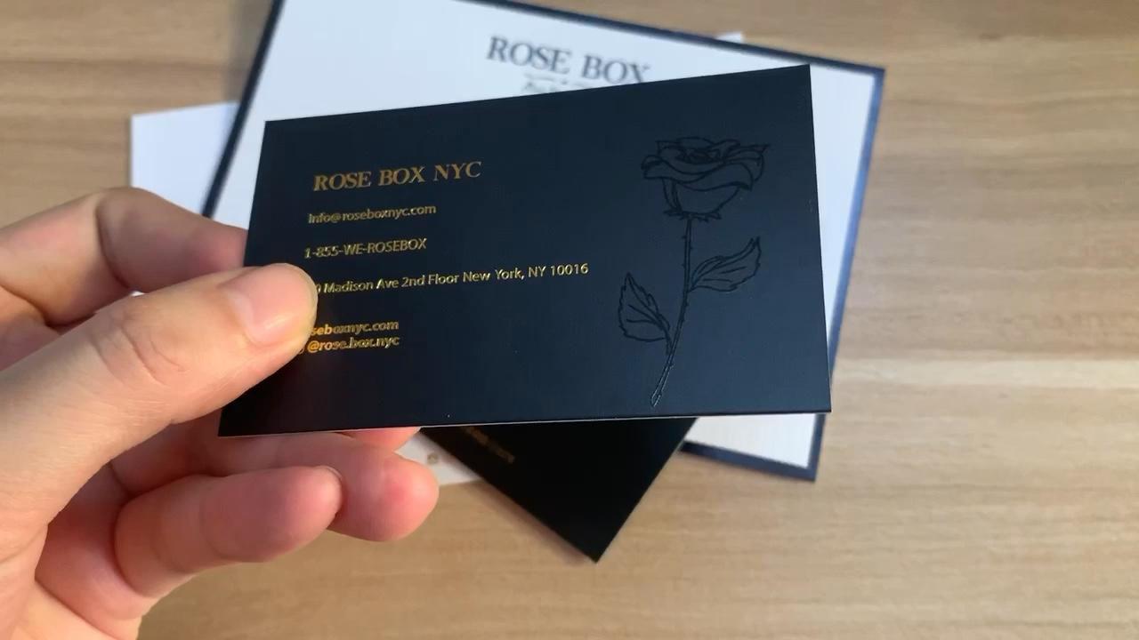 Fabrika lüks folyo logo tebrik zarflı kart ambalaj
