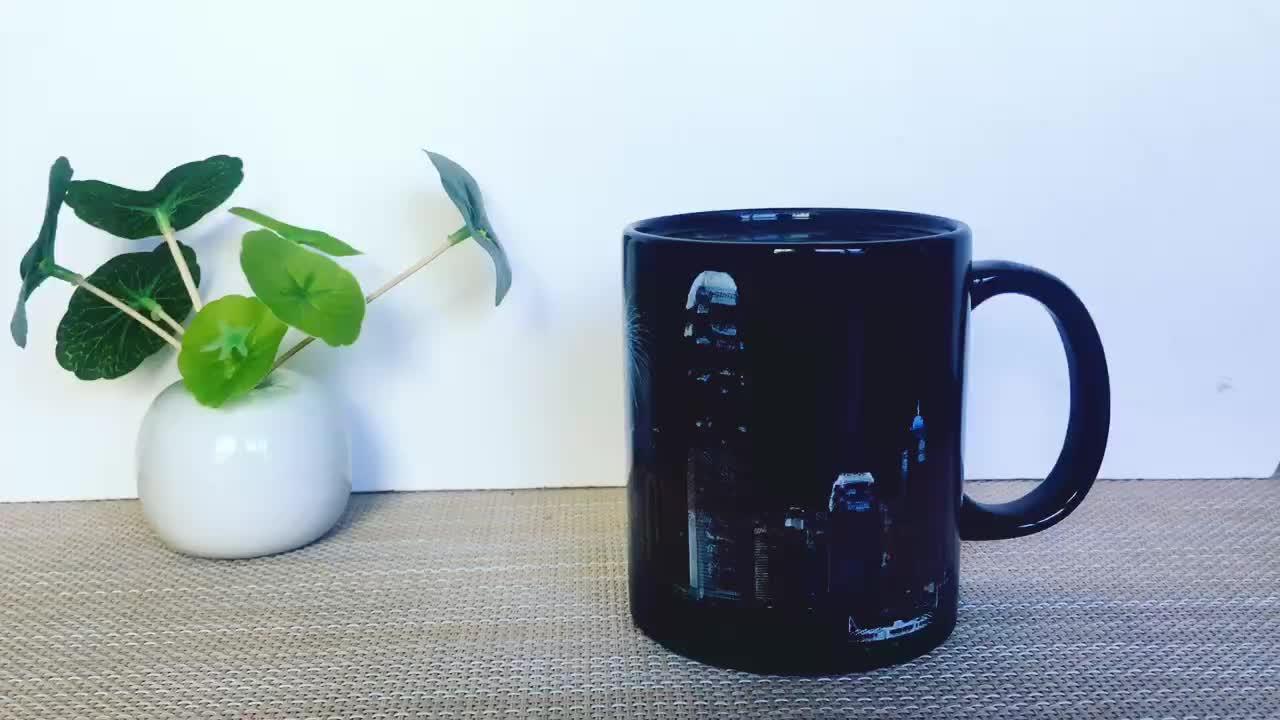 Wholesale customize your logo magic mug hot water color changing cup game coffee ceramic magic mug