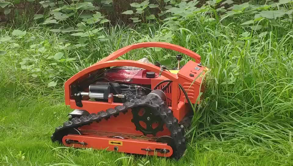 Chinese gasoline remote control lawn mower and robot gas lawn mower for agriculture