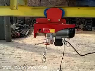 Construction material lifting  Wire rope Mini electric hoist 100kg 12M with CE certificate