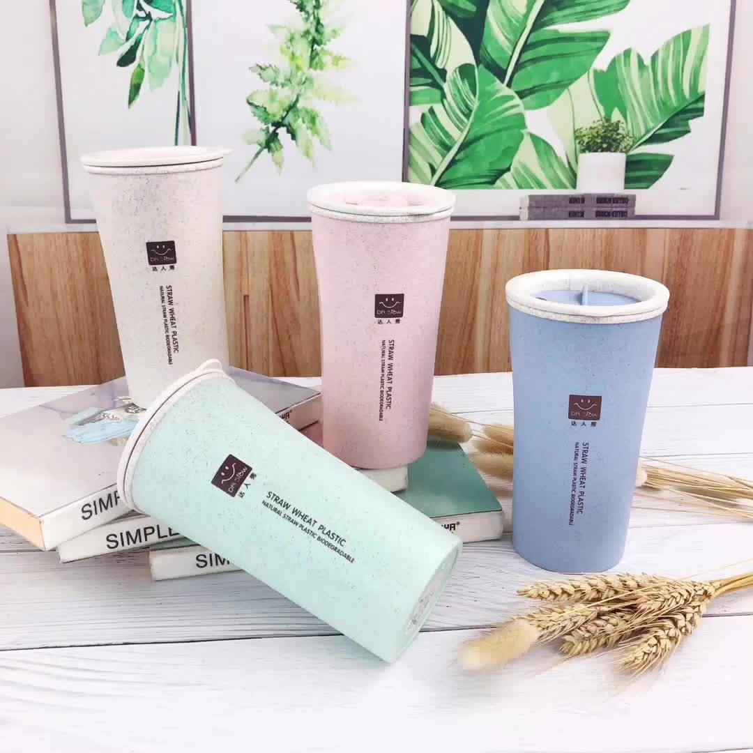 도매 gift custom logo 휴대용 office 두 번-층 차 coffee 컵