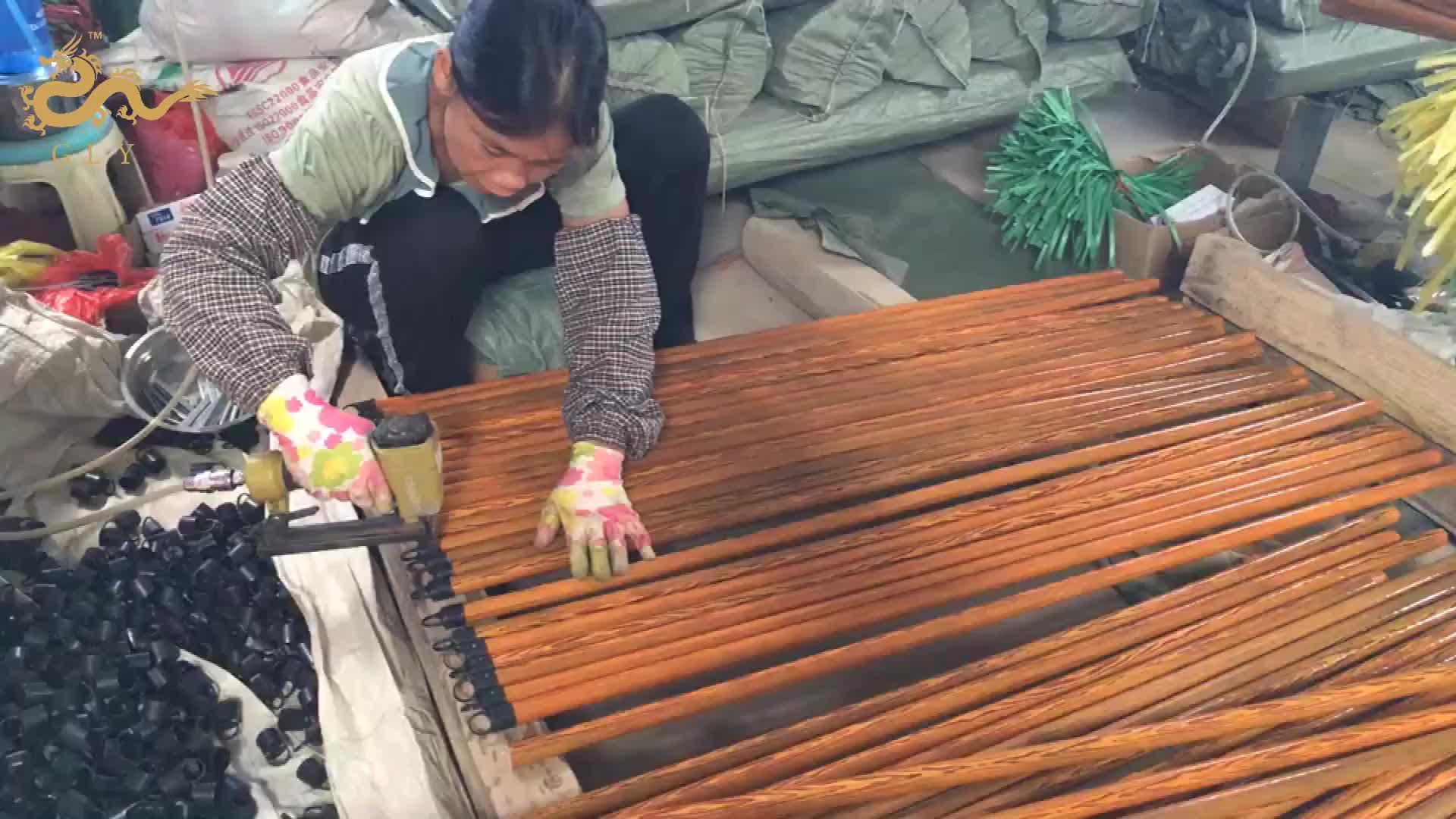 Best Sale 120 cm Length 22mm Diameter Broom Wood Stick With Italian Thread