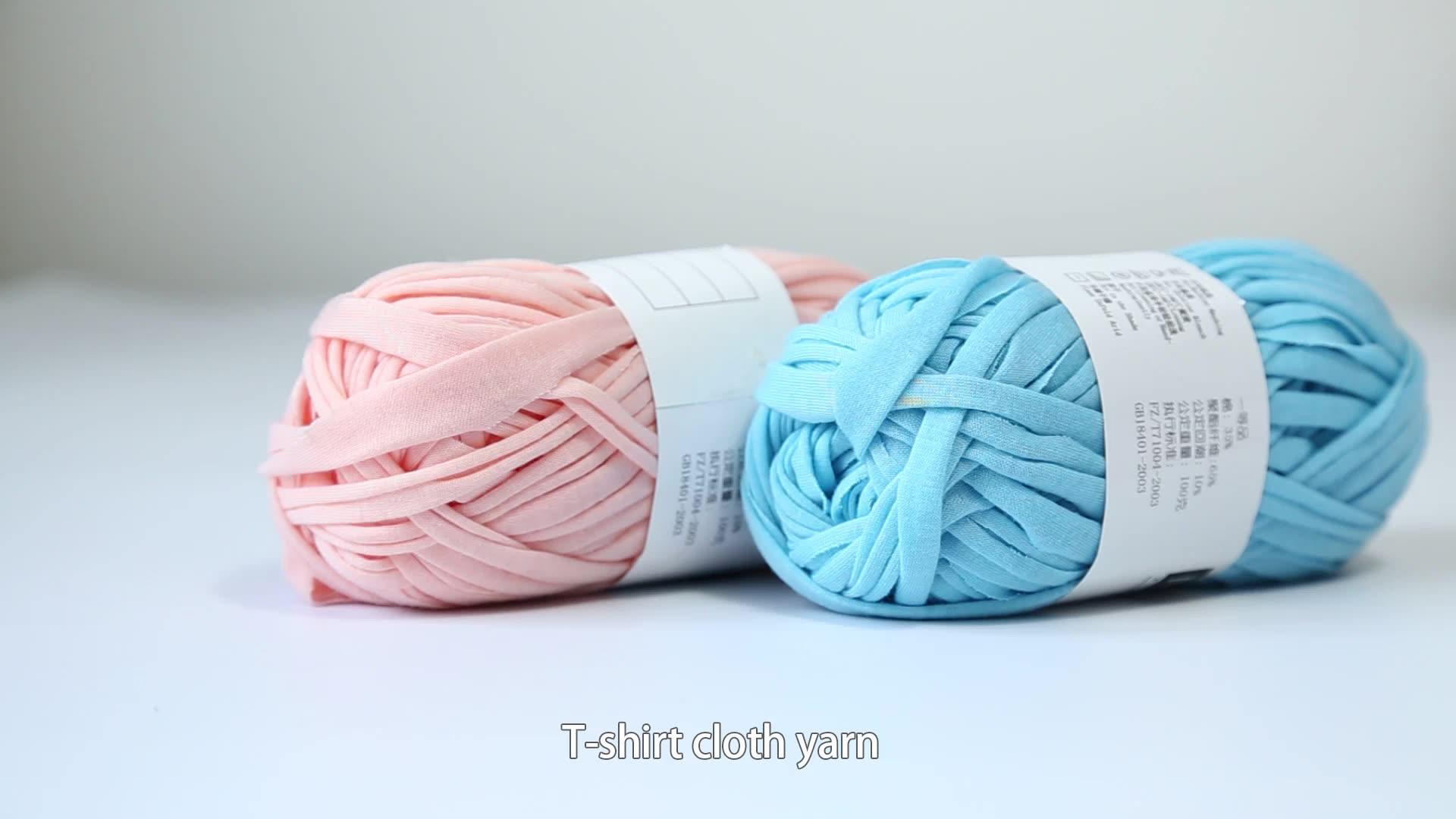 Super fashion elastic t shirt yarn for crochet sweater