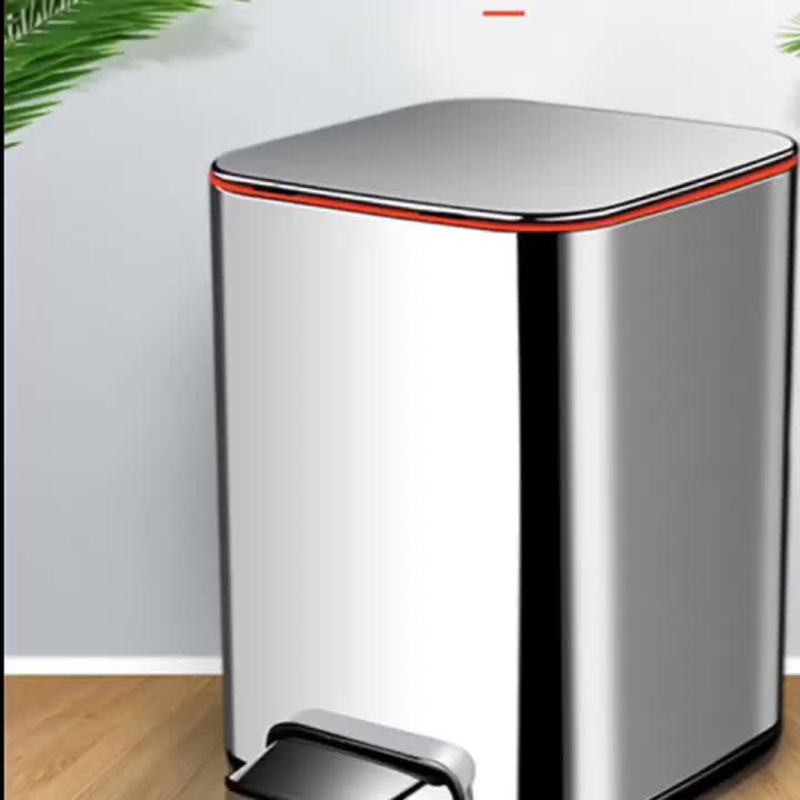 Large foot trash can for office
