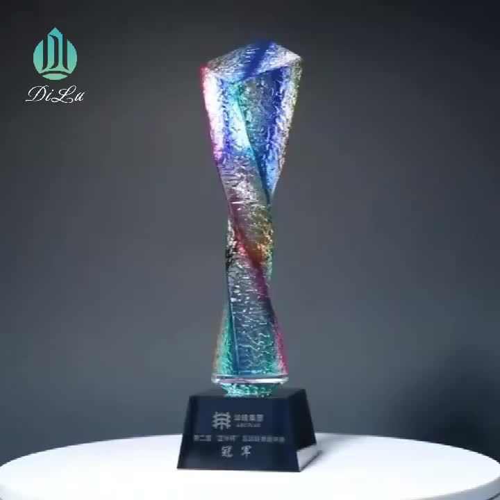 Wholesale personalized 3d laser crystal custom star trophy