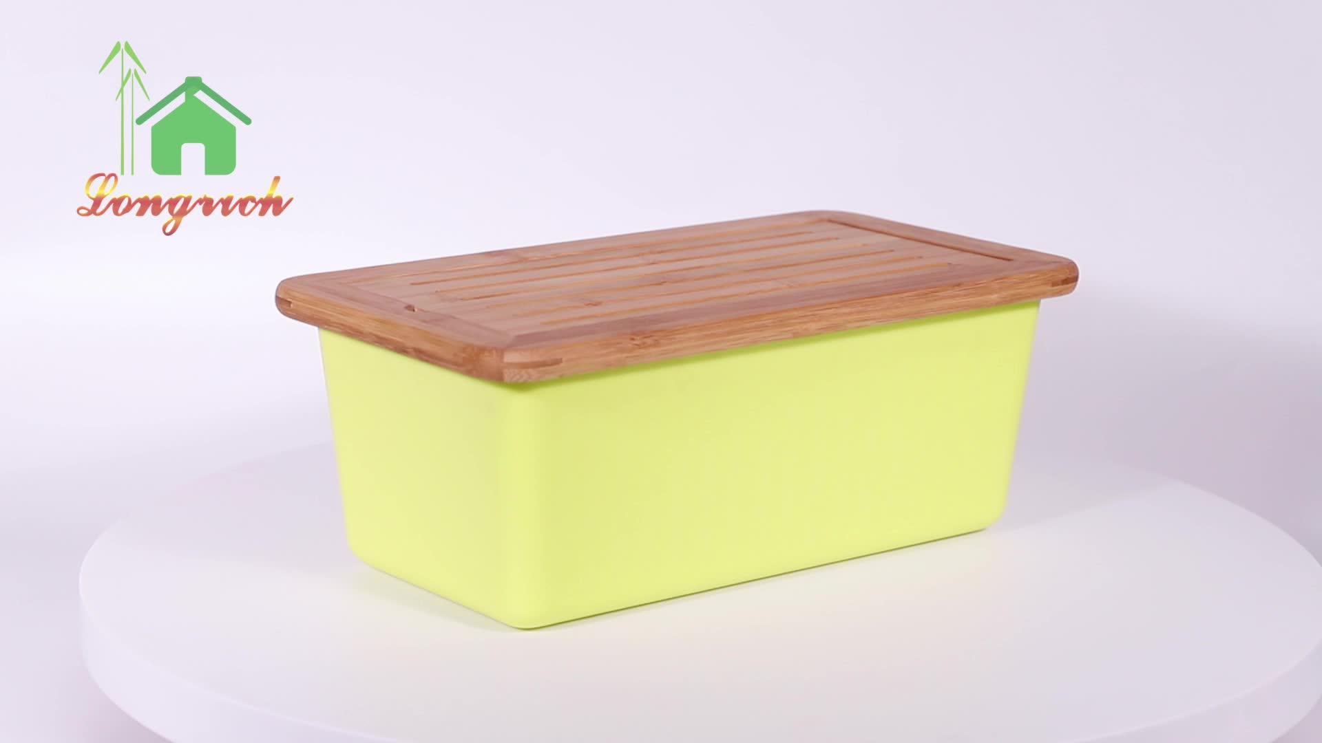 FSC प्रमाणित स्थायी साफ साफ ताजगी संरक्षण प्राकृतिक लकड़ी के बांस रोटी बॉक्स