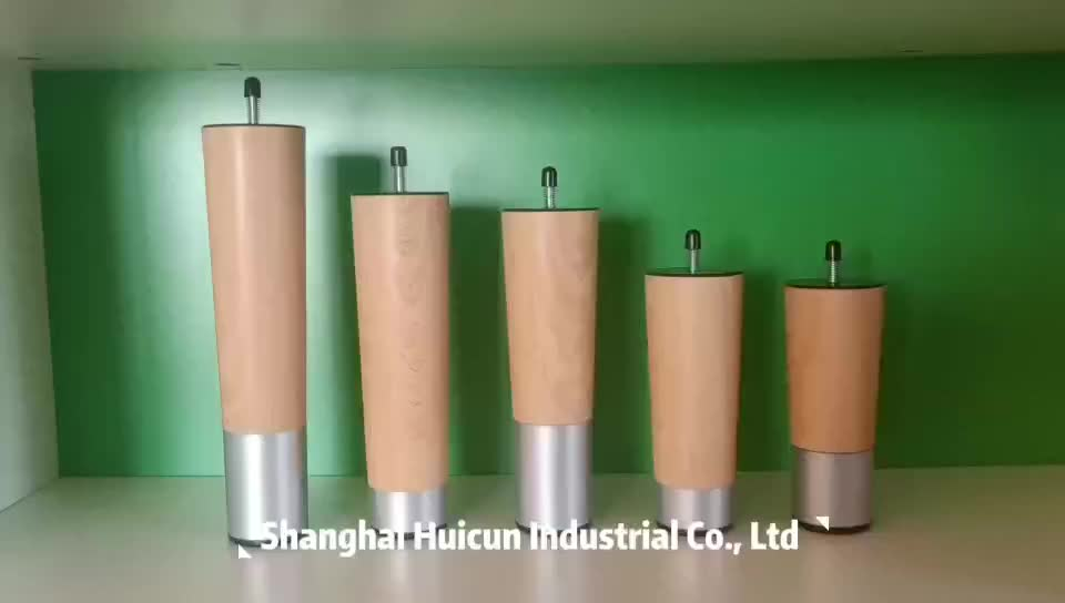 Fabricante profesional de último diseño H200mm de madera de plástico redondo de cromo en las piernas de los muebles para la cama y sofás
