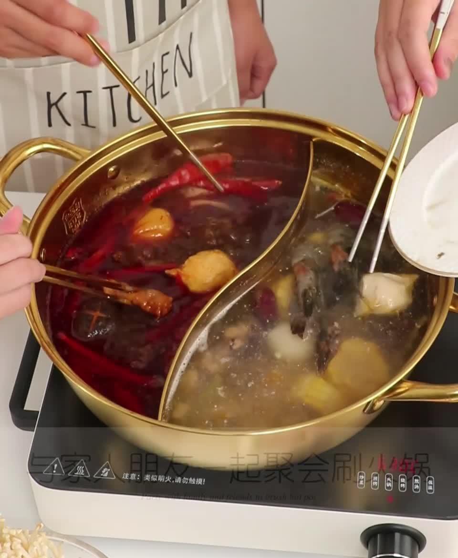 Geschirr Suppe Topf Edelstahl Doppel-geschmack Heißen Topf