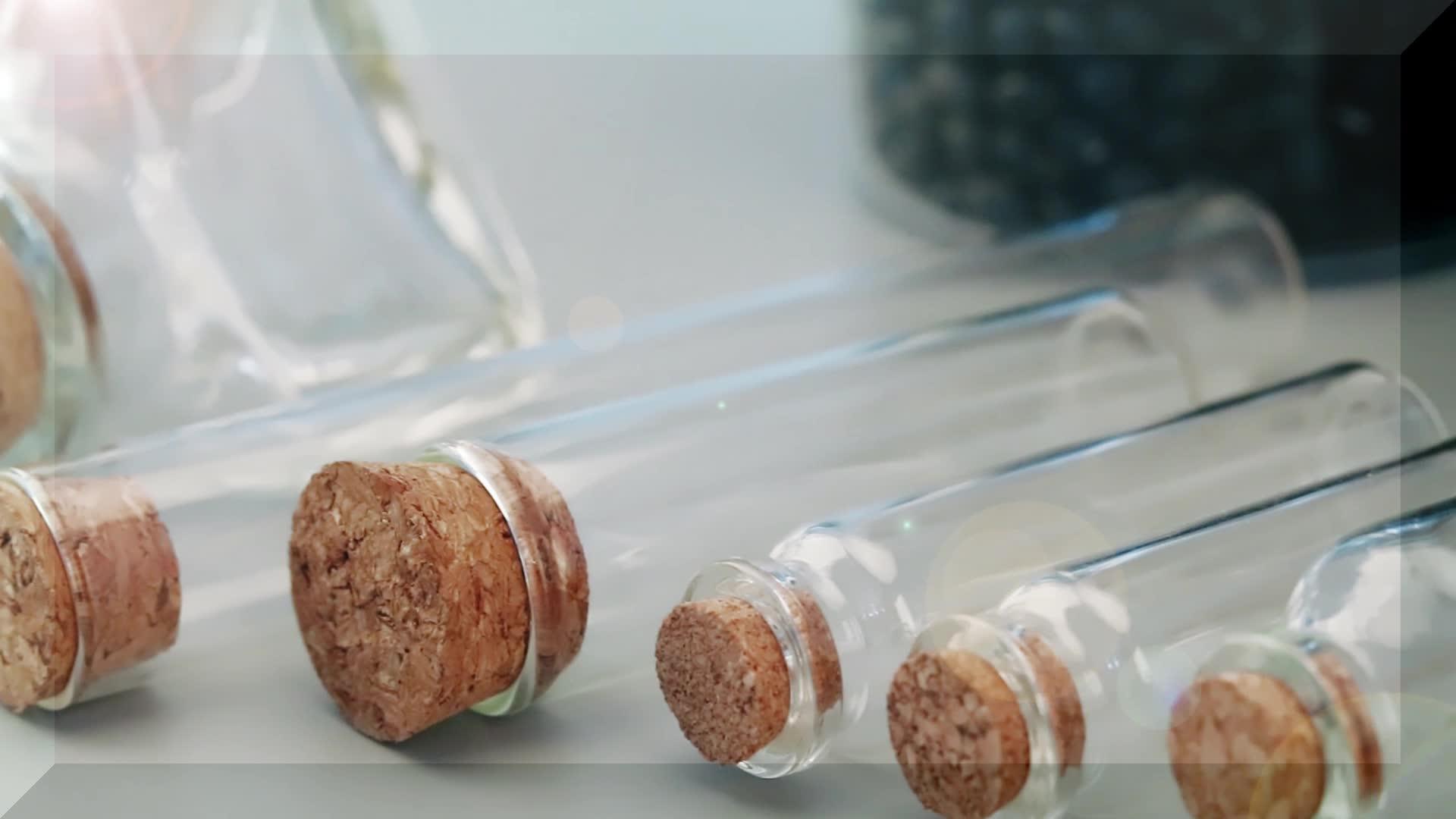 Bouteilles en verre avec bouchons de liège, 40 pièces, 15ml, 30ml, 50ml, 60ml, 100ml