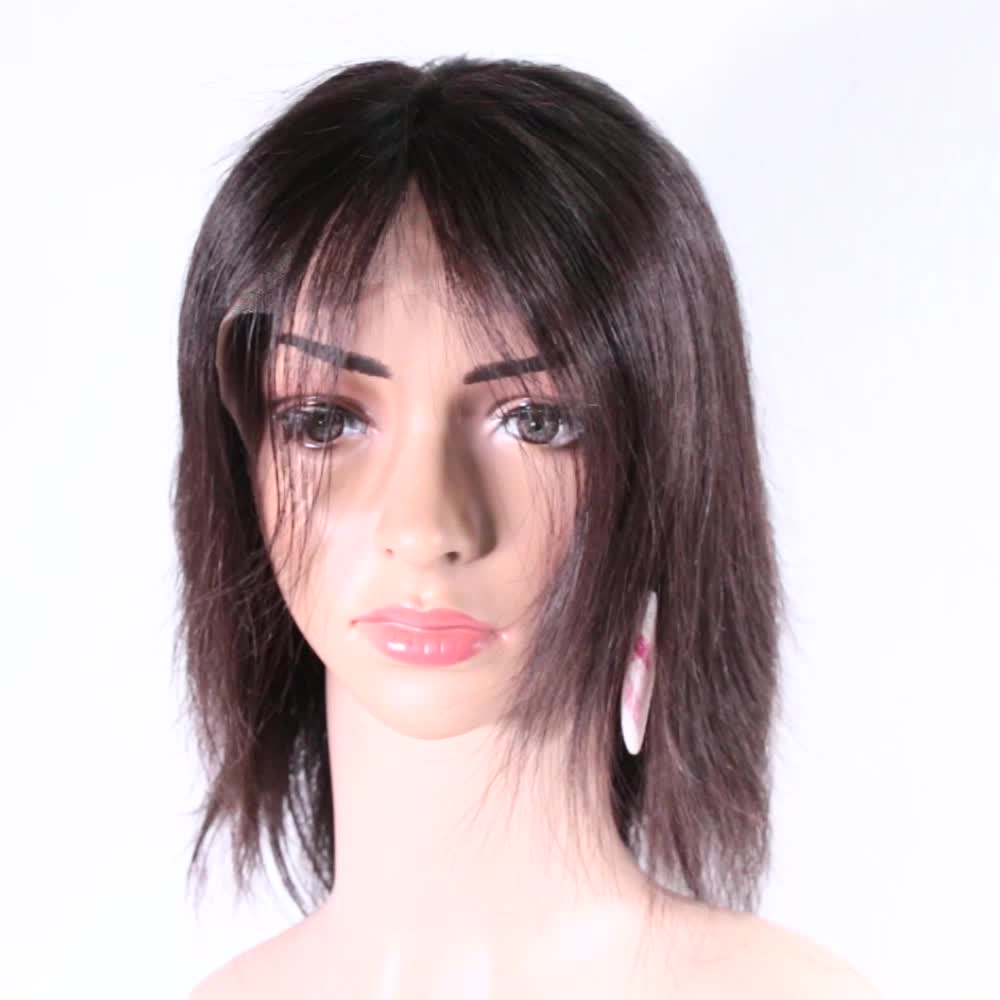 Ali Queen Unprocessed Cuticle Aligned Indian Human Remy Hair Straight Full Lace Wig