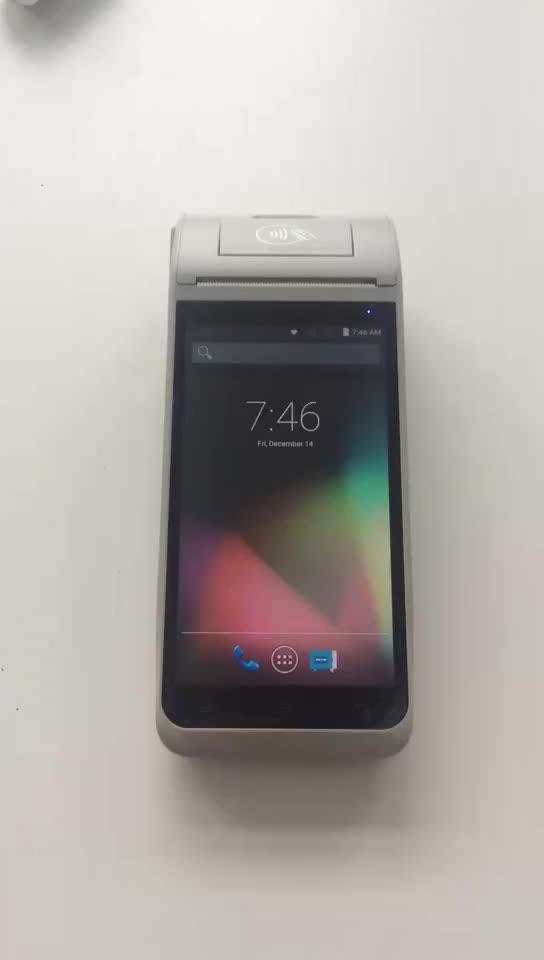 Z91 4 グラム WIFI 5.5 インチモバイル nfc POS 機、ポータブル Android の Pos プリンタでハンドヘルド EDC 端子