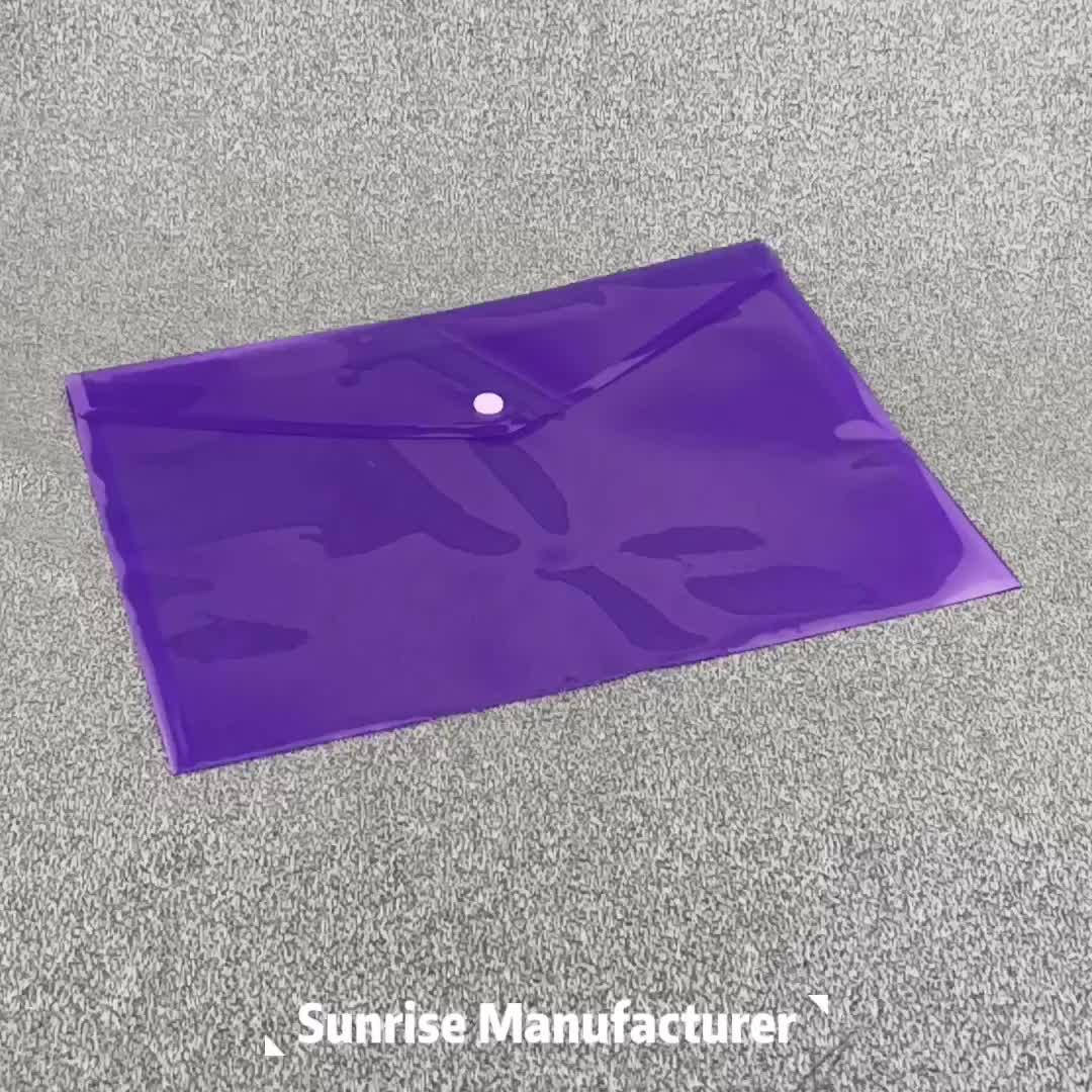 Clear PP/PVC พลาสติก A4 ซองจดหมายเซินเจิ้นแฟ้มโฟลเดอร์กระเป๋าสตางค์