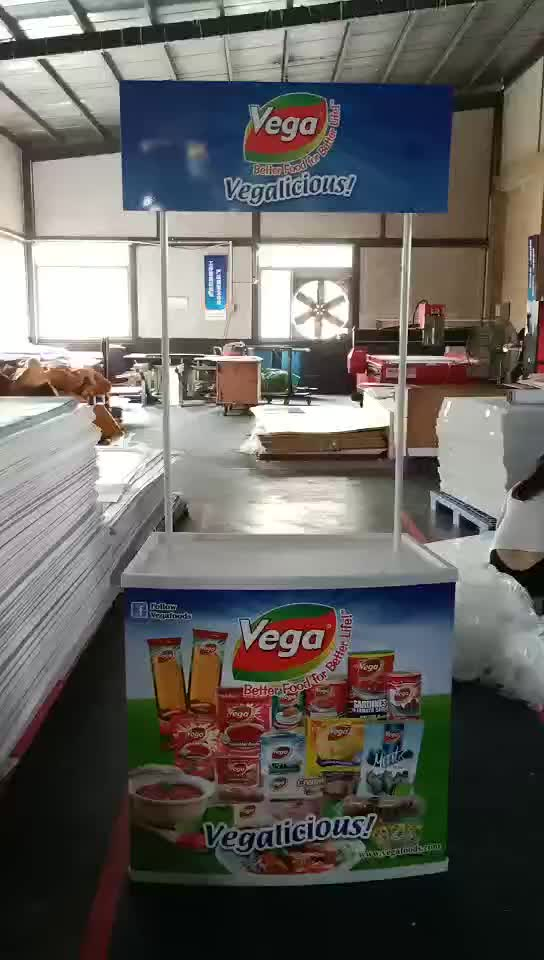 plastic promotion counter/pop up table/pop up counter