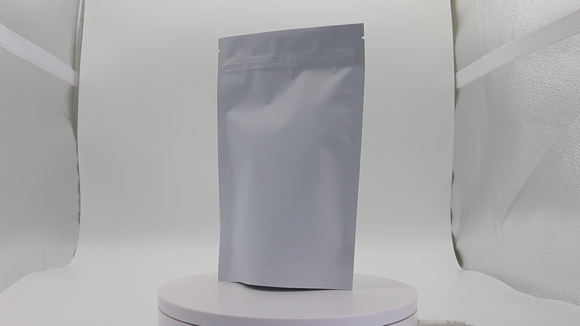 Customized Standing dried fruit food fruit nut tea zipper window sealed bag white kraft paper pouch packaging bag