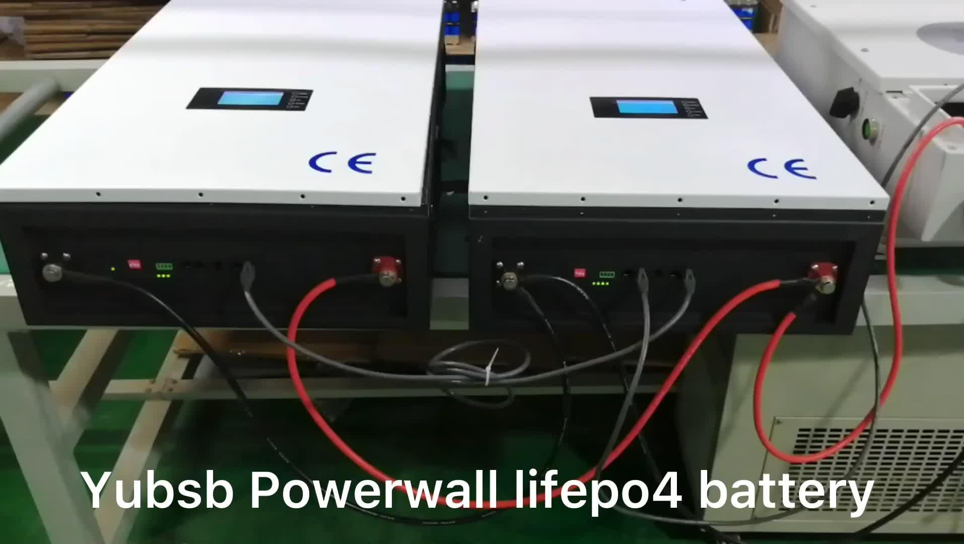 סין Powerwall שמש אחסון ליתיום סוללה 48V 100ah 150ah 200ah 5kwh 7.5kwh 10kwh lifepo4 ליתיום יון