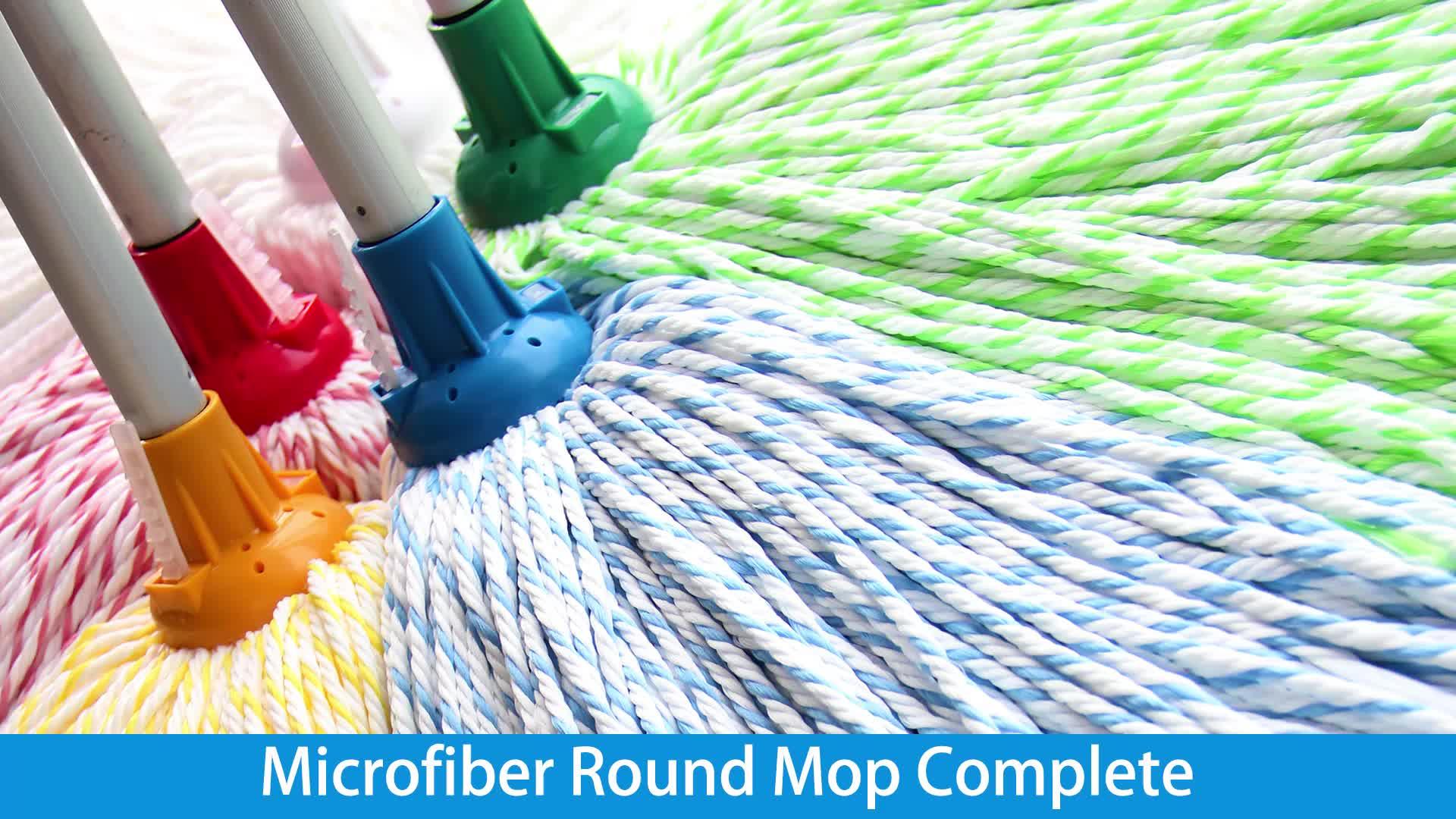 Super Efeito de Limpeza Projeto Especial 230g ou 250g de Microfibra Rodada Fio Mop com Cabo