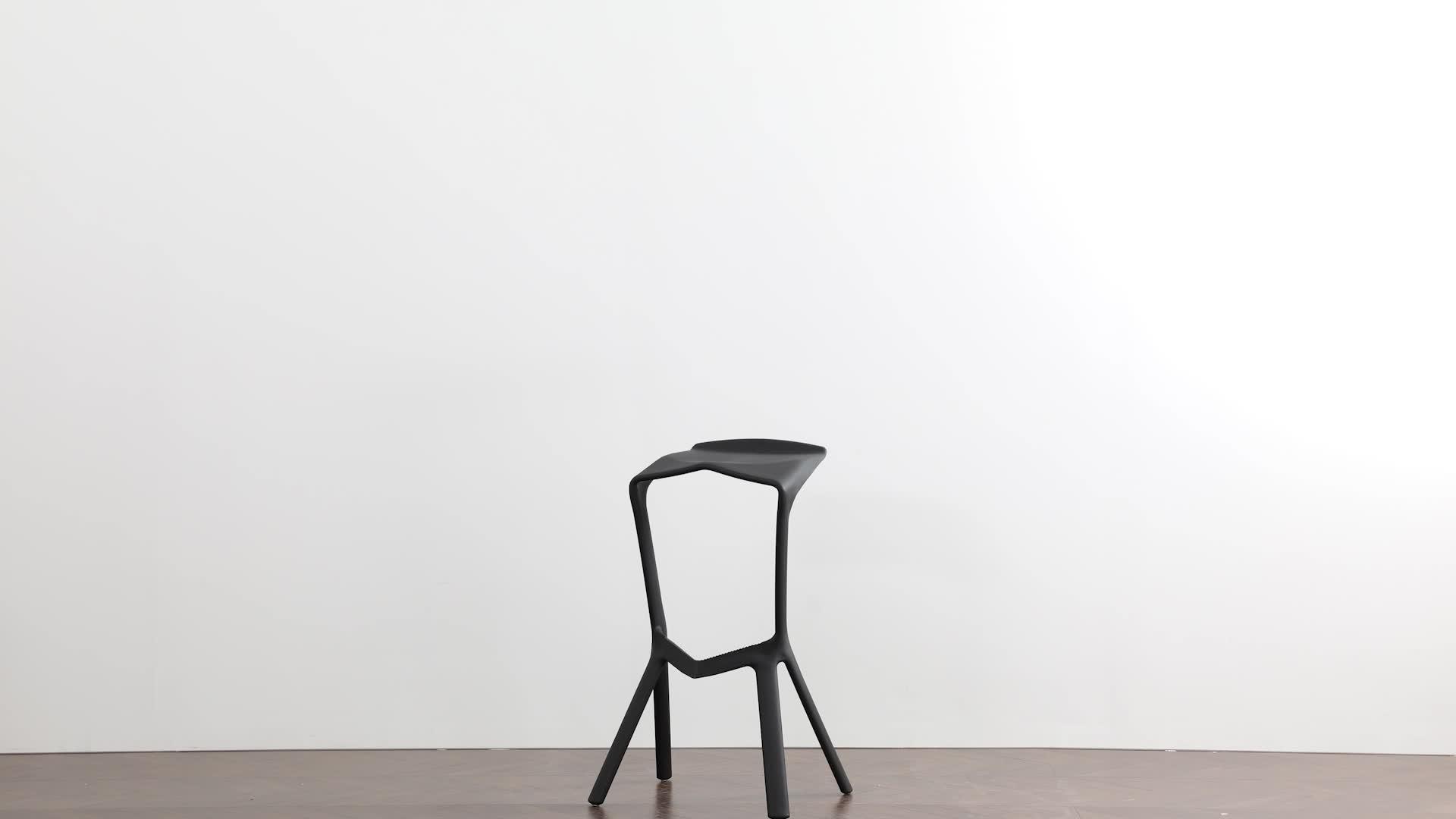 Night club miura bar stool cadeira de plástico empilhável