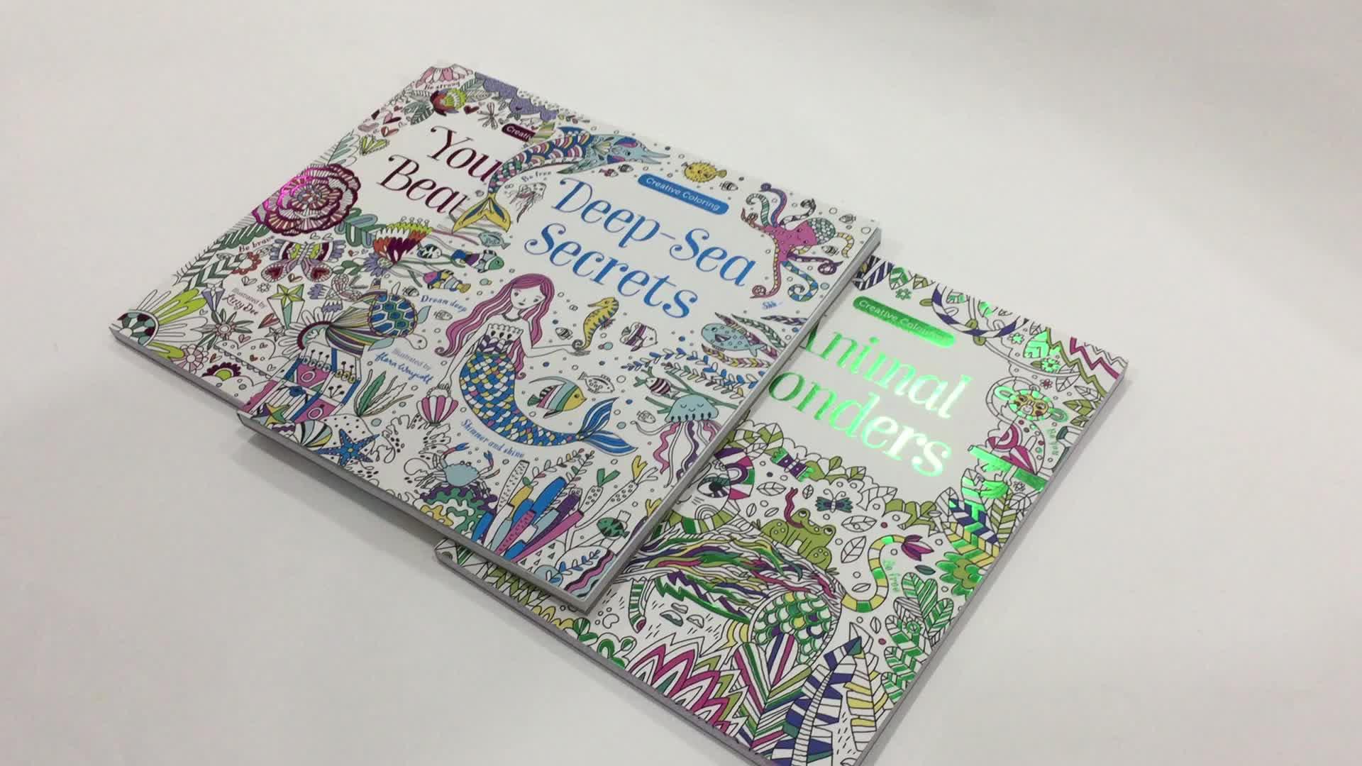 Ciltsiz kitap baskı hizmetleri ve özel boyama Manga çocuk kapaklı kitap baskı