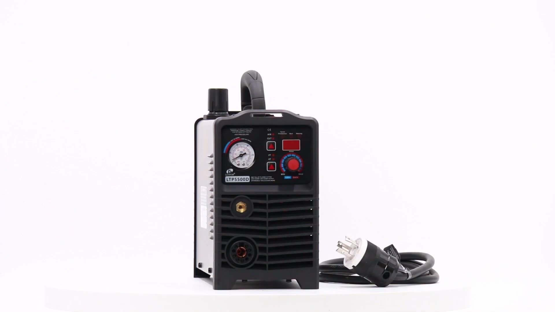 Lotos LTP5500 Không HF Cutter Plasma IGBT DC Inverter Máy Cắt Kim Loại 110/220vac Igbt Cnc Plasma Cutter Cắt 70 220V