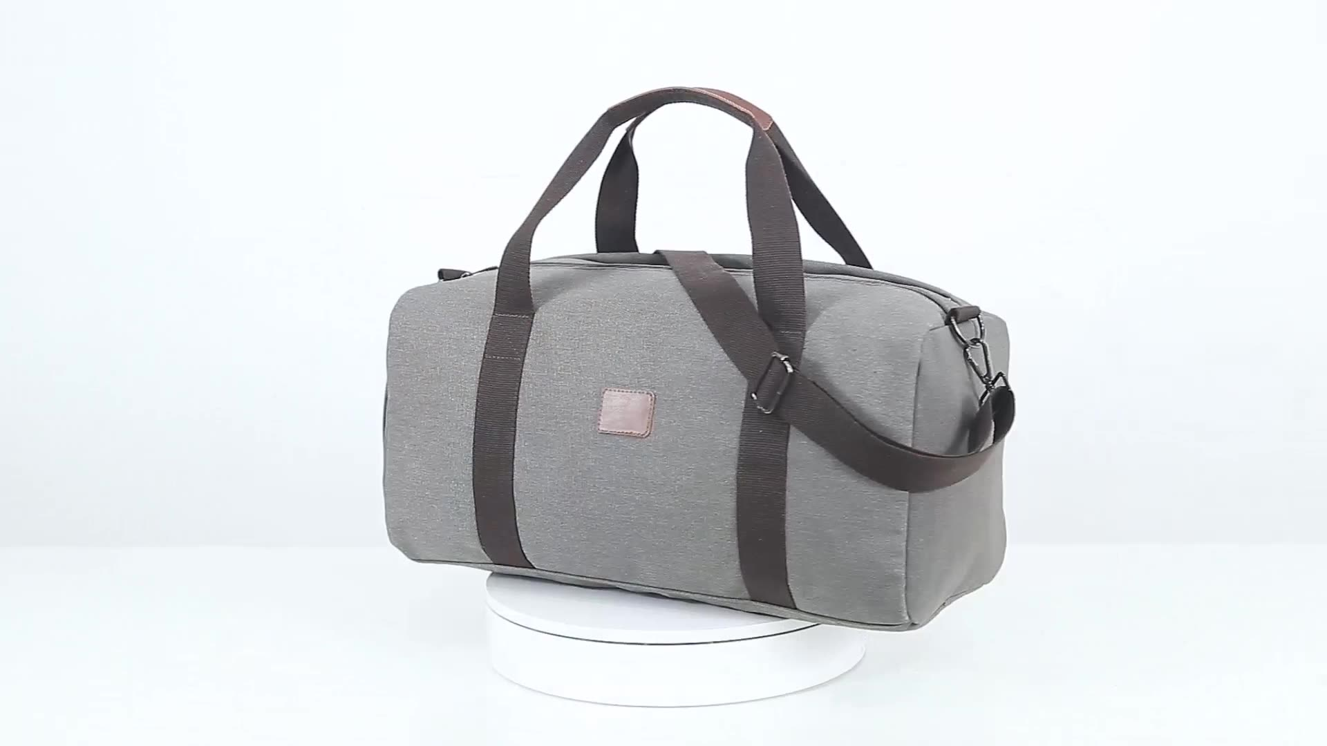 WOHLBEGE canvas travel duffel bags men women yoga sports gym bag with shoe compartment