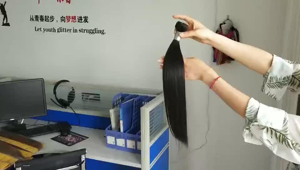 Super double drawn straight bundles virgin peruvian hair