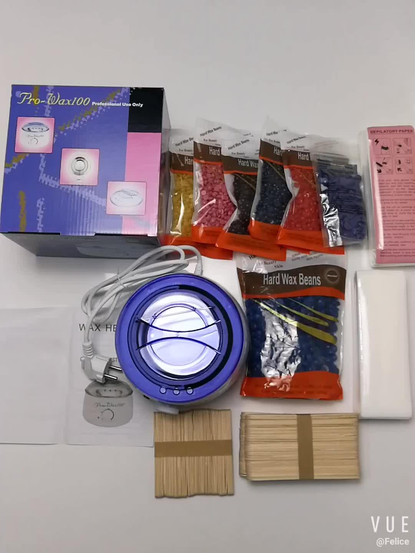 Hoge kwaliteit niet-geweven stof ontharing wax papier 100 stuks wegwerp wax strips