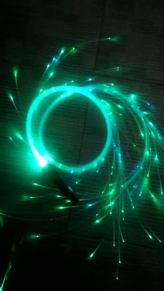 LED de fibra óptica Rave látigo viene con todo-Accesorios-3A baterías de grasa Whipgripz... doble asa de lazo para Navidad