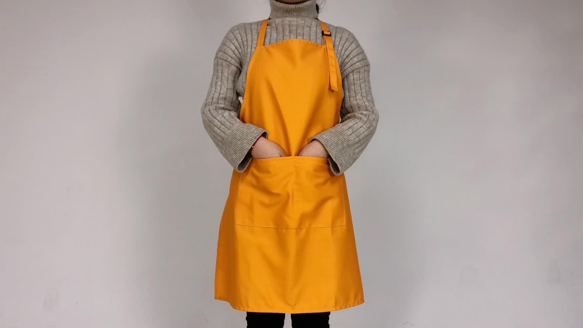 new design polycotton blank Oilcloth Apron Cooking restaurant apron