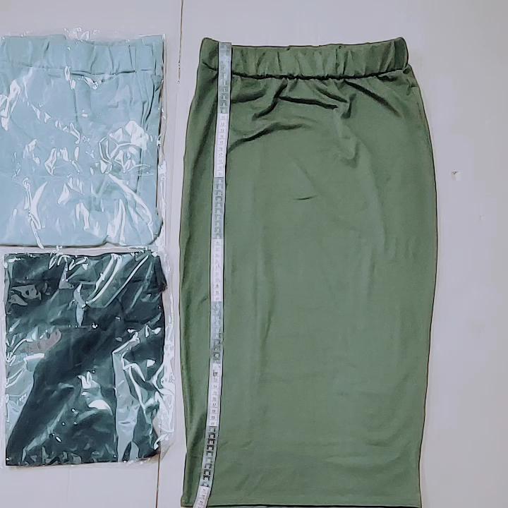 Plus Size XXL 2020 Wholesale Long Women Pencil Skirt Black High waisted Bodycon Office Maxi Skirts E71188 Work Wear Maxi Skirt