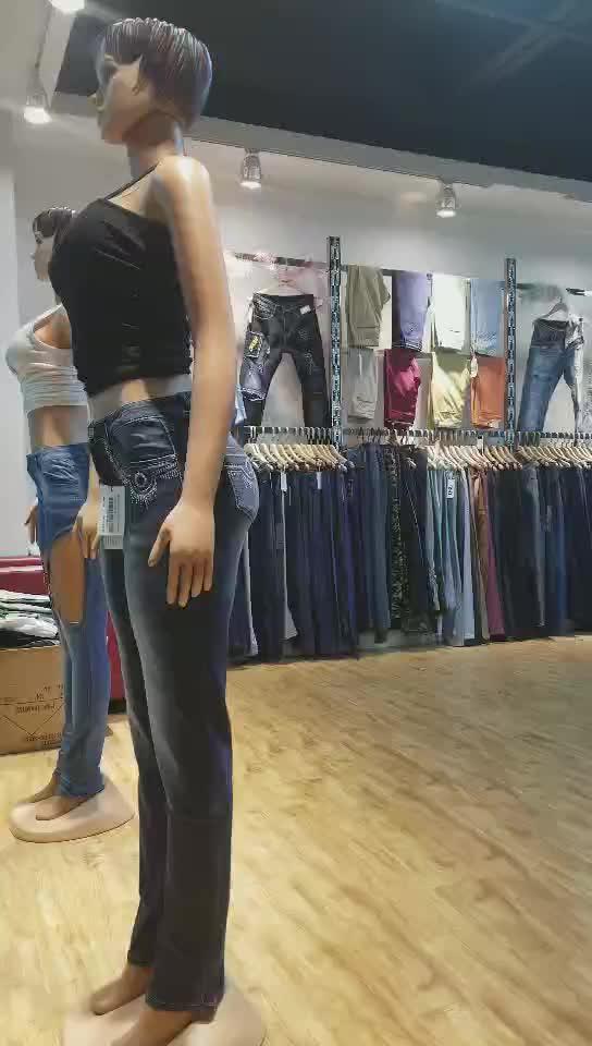 GZY मुफ्त शिपिंग फैशन मिश्रण जींस stocklots चीन कारखाने थोक लेडी जीन महिलाओं डेनिम जींस