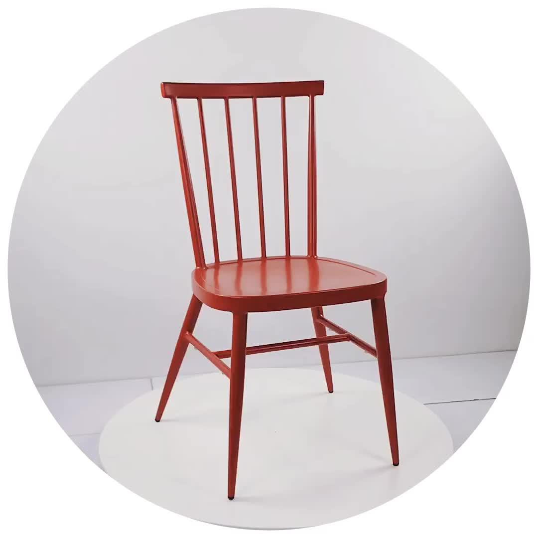 Оптовая продажа Высокое качество Открытый Винтаж стекируемые современный металлический обеденный стул