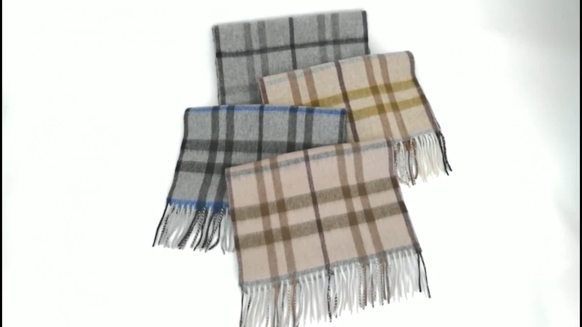 Luxury Mens Checked Tartan Winter Thick Check Scottish 100% Cashmere Scarf