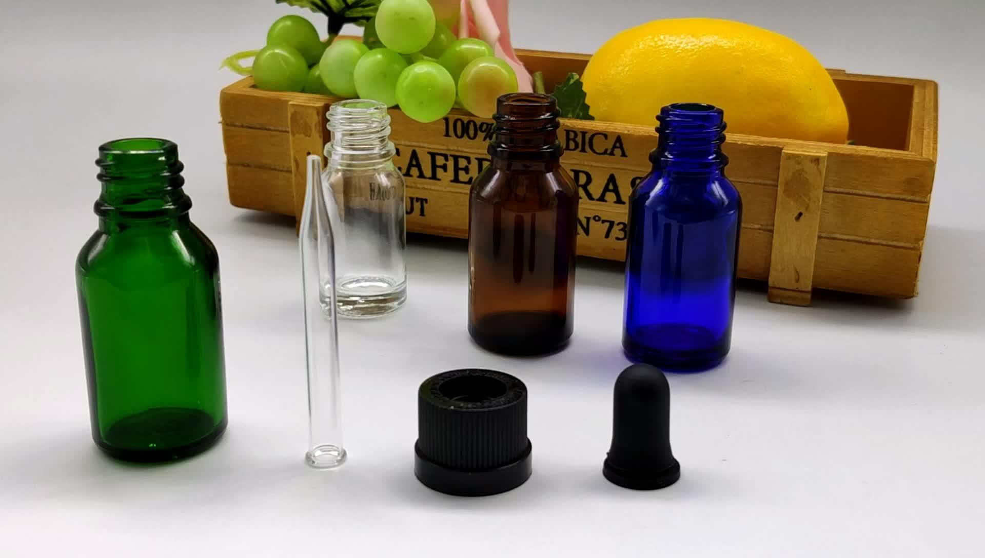 15ml dropper garrafa de vidro, garrafas de vidro de óleo essencial